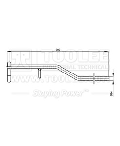 300 7010 Extension Handle for Lashing Chain drawing