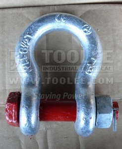 300 1103 Anchor Shackle Bolt Type With Safety Pin  Nut G2130 6 1