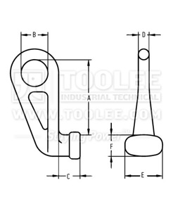 300 1255 Eye Container Lifting Hook drawing