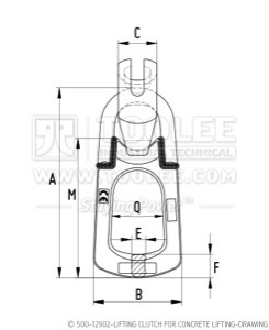 300 500 12902 Lifting Clutch for Concrete Lifting Drawing WM