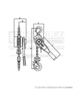 300 500 9057 lever Block HSH X Drawing WM