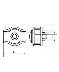 300 5591 Simplex Wire Rope Clip drawing