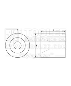 300 2303 Aluminum Sleeve Stop Button drawing