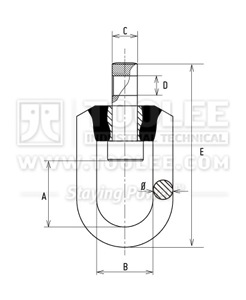 300 1463 Trawling Swivel for Shackle Stainless Steel SSS Drawing