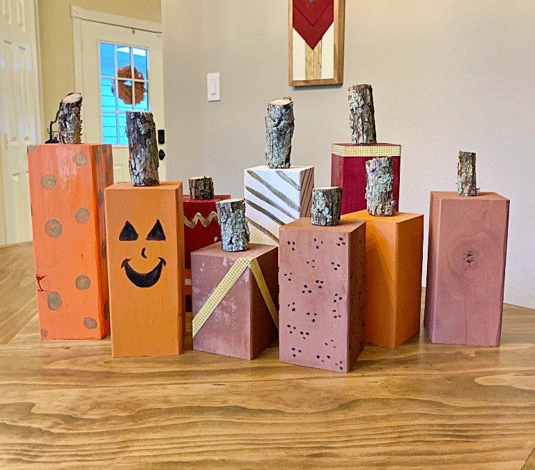 DIY Wood Pumpkin Décor