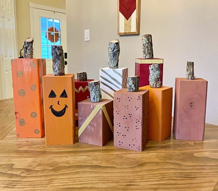 DIY Wood Pumpkin Décor