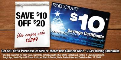 Woodcraft-$10-off-$20-Promo