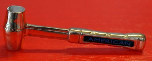 American-Hammer-8oz-Brass-Aluminum-Handle-Front-Side-View