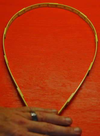 Wiha Pocket Sized Folding Ruler Flexed End to End