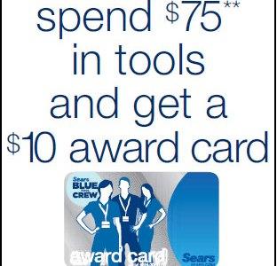Sears Spend 75 Get 10 September Promo