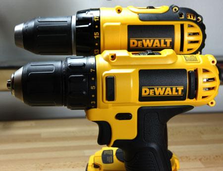 Dewalt 12V Max Cordless 3-8 Drill Driver DCD710S2 vs 18V Drill Height