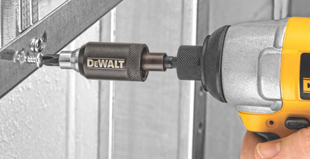 Dewalt Impact Clutch Bit Holding Adapter Attached to Driver