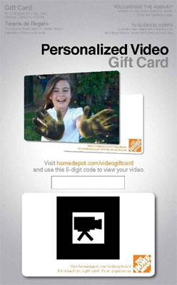 Home Depot Personalized Video Gift Card Nov 2010