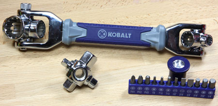Kobalt Multi Drive Wrench Set Contents