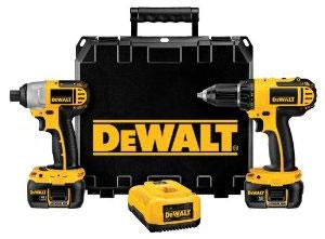 Dewalt 18V Li-Ion Drill Impact Driver Kit 12-2010