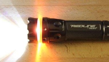 Nebo Redline Flashlight Lit Spill