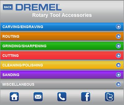 Dremel Mobile Website ScreenShot