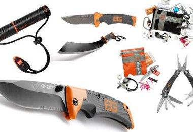 Gerber Bear Grylls Survival Tool Kits Fire Starter Knives and Multi-Tools
