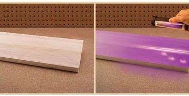Titebond II Fluorescent Wood Glue Usage Example