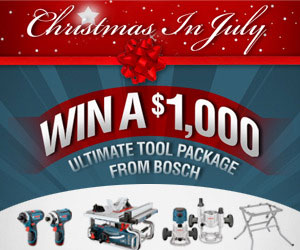Bosch Christmas in July Sweepstakes