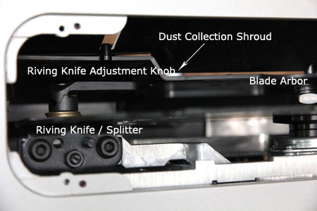 Bosch GTS1031 Table Saw Blade Change and Riving Knife Adjustment