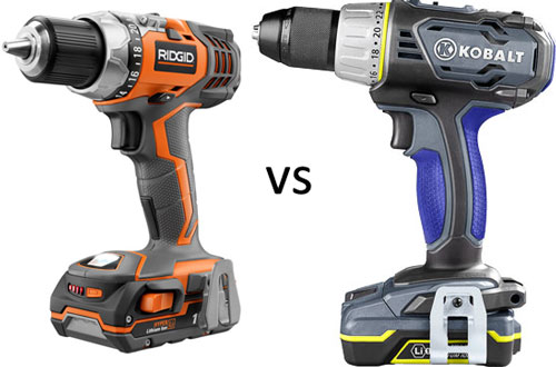 Ridgid vs Kobalt Drill Drivers