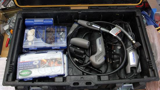 Dewalt Small Tough Case with Dremel Tool Kit