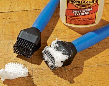 Rockler Silicone Glue Brush Removal