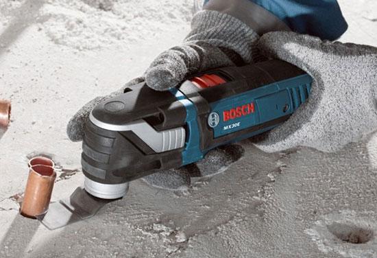 Bosch Multi-X MX30E Oscillating Multi-Tool Cutting
