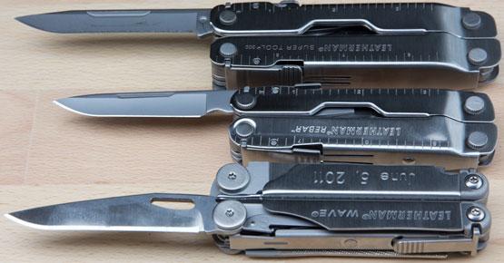 Leatherman Knife Blade Rebar vs Wave and SuperTool 300
