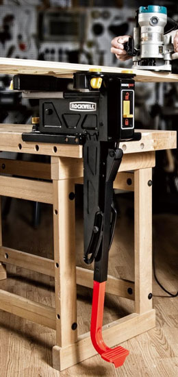 Rockwell BenchJaws Vise Holding Lumber