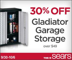 Sears Gladiator Tool Storage Sale