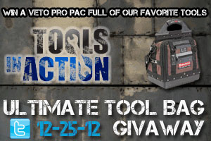 Tools in Action Ultimate Tool Bag Giveaway