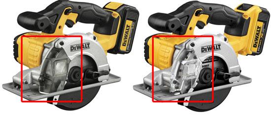 Dewalt DCS373 20V Metal Cutting Saw Differences