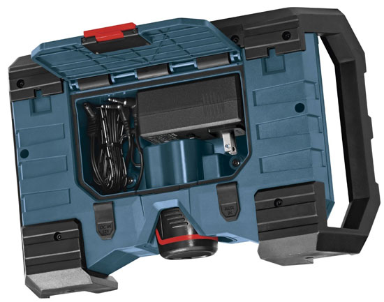 Bosch PB120 12V Jobsite Radio Rear Storage