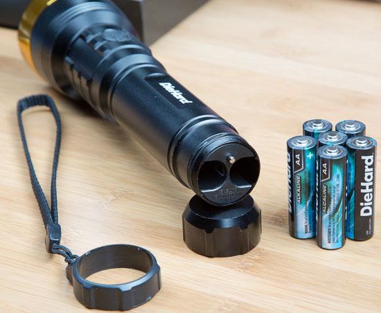 Craftsman DieHard LED Flashlight 6AA Battery Compartment