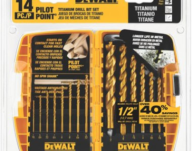Dewalt 14pc Pilot Point Drill Bit Set