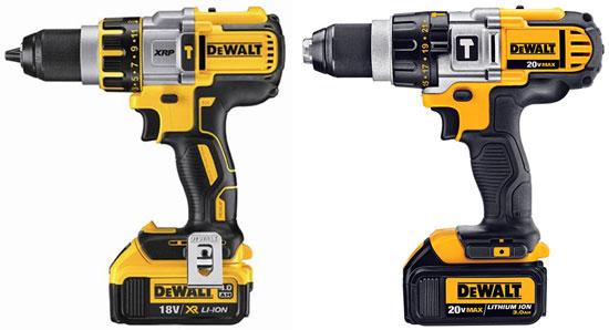 Dewalt 20V Premium Hammer Drill vs Brushless Drill