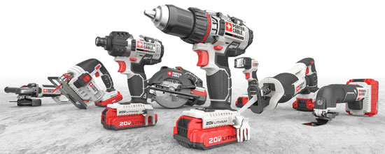 Porter Cable 20V Max Cordless Power Tool Lineup