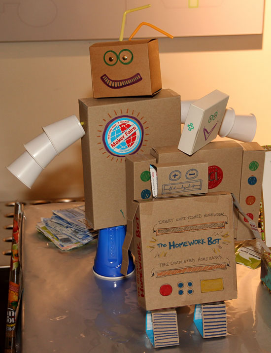 Maker Faire NYC 2012 Cardboard Robots