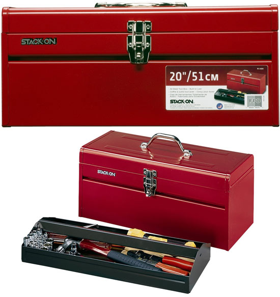 Stack-On 20-Inch Steel Tool Box