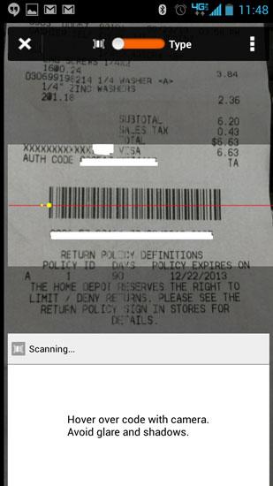 Home Depot Pro App Receipt Scanning Fail