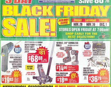 Harbor Freight Black Friday 2013 Tool Deals Page 1