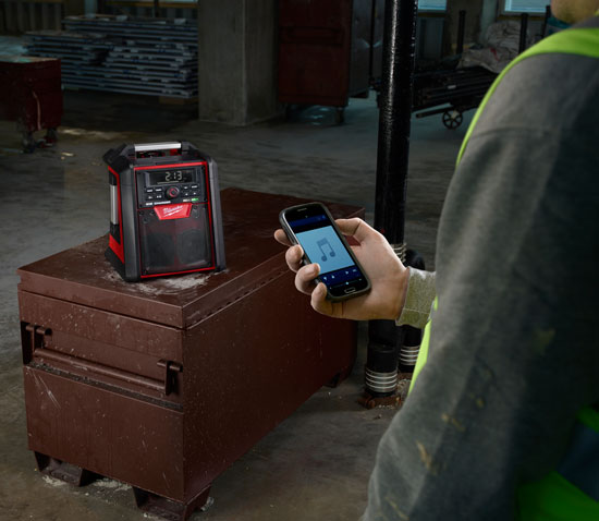 Milwaukee M18 Bluetooth Jobsite Radio Wireless Controls