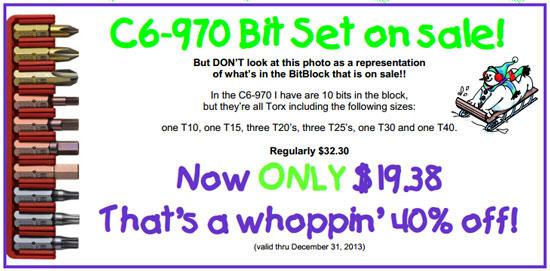 Tool Lady Holiday 2013 Torx Bit Set Deal