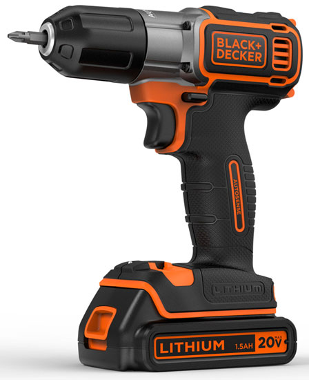 Black and Decker 20V Drill with AutoSense Clutch