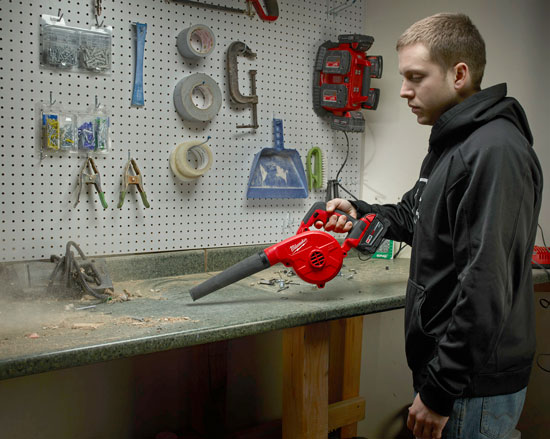 Milwaukee M18 Air Blower in Action