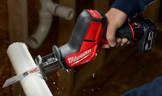 Milwaukee M12 Fuel Hackzall Cutting PVC