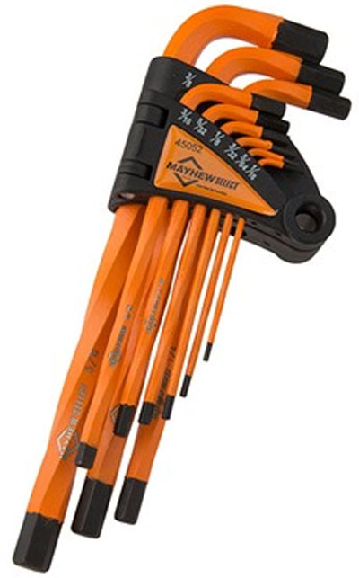 Mayhew Twisted Hex Wrench Set