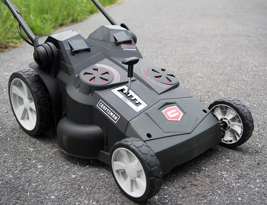 Craftsman 40v mower side view